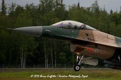 RECOVERY: RED FLAG-ALASKA General Dynamics F-16C Viper USAF 86-0286 18th Aggressor Squadron (AGRS)