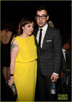 Celeb Diary: Lena Dunham & Jack Antonoff @ 2013 Grammy Awards
