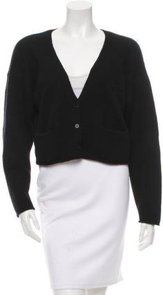 Beat the Chill With An Attractive Black Cardigan Cashmere Cardigan, Chloe, Cardigans, Sweaters For Women, Stylish, Skirts, Tops, Fashion, Moda