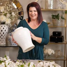 Do you love floral arrangements and ginger jars. Here is a simple arrangement that you can incorporate into your home decor and interior design of your new home. Let me show you how to decorate your house.