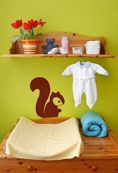 Woodland Squirrel Vinyl Wall Decal