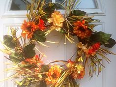 Autumn Sunrise Wreath Wreaths For Door http://www.amazon.com/dp/B00MBPKR3M/ref=cm_sw_r_pi_dp_NSp6tb1DKB6FE