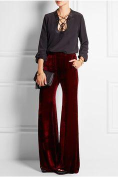 Merlot velvet  Concealed button, hook and zip fastening at front  82% viscose, 18% silk; lining: 100% cotton  Dry clean  Designer color: Burgundy
