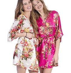 Planning on rest and relaxation before your bachelorette party? Our Floral Bridal Party Robes are silky soft and perfect favors for a spa day bachelorette party or the dressing room on the big day! Bachelorette Party Scavenger Hunt, Bachelorette Party Supplies, Bachelorette Party Favors, Bridal Party Robes, Kimono Fashion, Bride Gifts, Floral Tops, Dressing Room, Tiffany