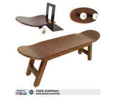 skateboard stool and coat rack honey color by skatehome on Etsy skate-home