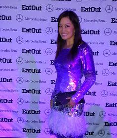 Eat Out Mercedes-Benz Restaurant Awards - Cape Town, South Africa. Sequin and ostrich feather dress by Gavin Rajah. Feather Dress, International Airport, Cape Town, South Africa, Mercedes Benz, Awards, Restaurant, Life, Diner Restaurant