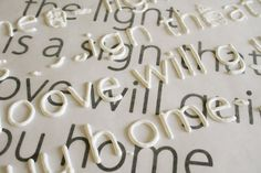 How to Make Raised Letters for Crafting {via Virginia & Charlie}