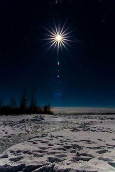 Moon Burst over Talkeetna River