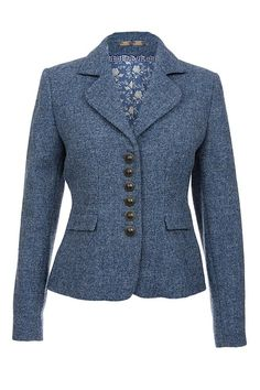 Amy in cobalt blue Harris Tweed by the rose Blazer Outfits, Blazer Fashion, Blazer Dress, Harris Tweed Jacket, Blazer Jackets For Women, Work Attire, Classy Outfits, Look Fashion, Suits For Women
