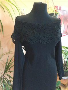 Чёрное ажурное платье заказать