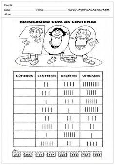 Atividades de Matemática 3º ano - Brincando com Centenas