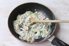 Romige pasta met broccoli en spekjes Pasta Met Broccoli, Pasta Salad With Tortellini, Potato Salad, Oven, Good Food, Ethnic Recipes, Nice, Ovens, Nice France