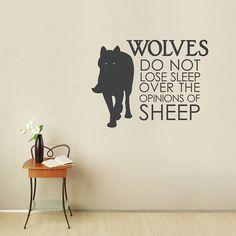 Wolf wall