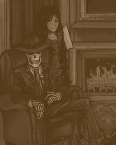 Chillin' by the fireplace - Skul and Val by SophieOfAsgard.deviantart.com on @DeviantArt