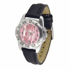"""Penn State Nittany Lions NCAA Mother of Pearl """"Sport"""" Ladies Watch (Leather Band) by SunTime. $63.00. Calendar Date Function. Rotation Bezel/Timer. Scratch Resistant Face. This handsome, eye-catching watch comes with a genuine leather strap. A date calendar function plus a rotating bezel/timer circles the scratch-resistant crystal. Sport the bold, colorful, high quality Penn State Nittany Lions logo with pride.The hypnotic iridescence of our natural blush mother of pearl co..."""