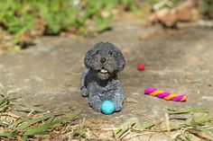 Poodle Ornament Figurine by cbordersart on Etsy