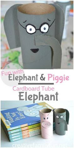 Are your kids Elephant and Piggie fans! They'll love making their own cardboard…