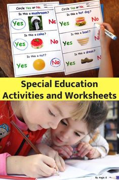Special Education Activities and Worksheets Special Education Activities, Autism Activities, Autism Resources, Special Education Classroom, Language Activities, Therapy Activities, Educational Activities, Teacher Resources, Classroom Activities