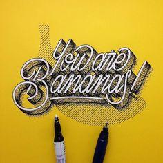 B-A-N-A-N-A-S. Type by @memovigil - #typegang - typegang.com | typegang.com #typegang #typography