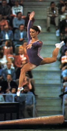 Karin Janz (East Germany) on balance beam at the 1972 Munich Olympics