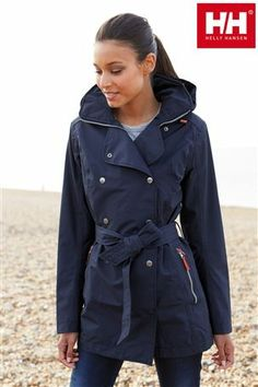 Buy Helly Hansen Navy Welsey Trench Coat from the Next UK online shop
