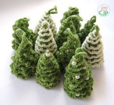 Amigurumi Christmas Trees Ornaments (2 designs) - pattern for purchase