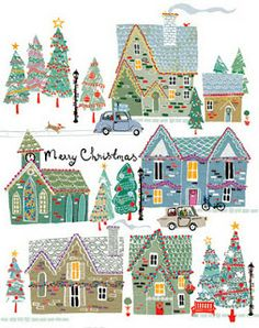 """Merry Christmas"" illustrated by Louise Cunningham."