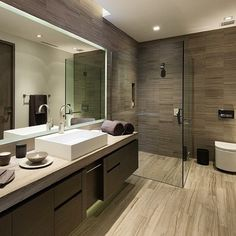 [ Luxurious Modern Bathroom Interior Design Ideas Bathroom Design Ideas Small Bathrooms Small Bathroom Design ] - Best Free Home Design Idea & Inspiration Wood Bathroom, Bathroom Flooring, Master Bathroom, Bathroom Ideas, Bathroom Vanities, Bathroom Cabinets, Bathroom Trends, Shower Ideas, Bathroom Renovations