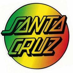 Santa cruz logo Santa Cruz Stickers, Santa Cruz Logo, Skateboard Logo, 1980s Art, Parent Tattoos, Wall Logo, Skate Wear, Skate Surf, Cool Stickers