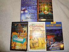 Lot of 5 Charlaine Harris Crime Mystery Paperbacks Female Sleuths Detectives