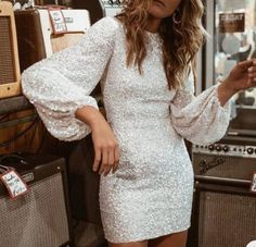 Glitter Round Neck Lantern Sleeve Sequins Bodycon Dress - - Style:Sexy Pattern Type:Glitter Material:Polyester Neckline:Round Neck Sleeve Style:Long Sleeve Length:Mini Occasion:Party Package Note: There might be difference according to m… Source by Hoco Dresses, Dance Dresses, Pretty Dresses, Homecoming Dresses, Formal Dresses, Elegant Dresses, Sexy Dresses, Wedding Dresses, Summer Dresses