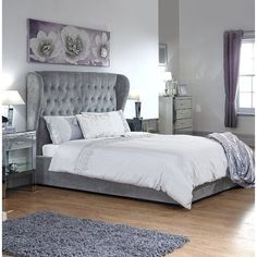 Toups Fabric Ottoman Storage King Size Bed In Platinum Ottoman Storage Bed, Ottoman Bed, Fabric Ottoman, Upholstered Bed Frame, Upholstered Ottoman, Small Room Bedroom, Bedroom Decor, Master Bedroom, Girls Bedroom