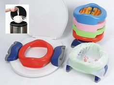 The Potette Portable Potty and Trainer takes the stress out of going into public with a recently potty-trained child. | 31 Ingenious Products That Will Make Parenting So Much Easier