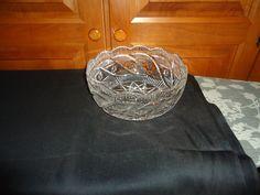 """Vintage Waterford Crystal 1960's Fruit/Salad (Apprentice) Bowl.  Ireland. 8"""". #WaterfordCrystal"""
