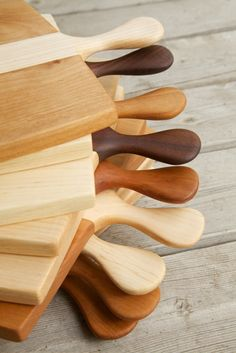 cutting boards / trays in all varieties of beautiful wood, from Cranewalk woodworkers