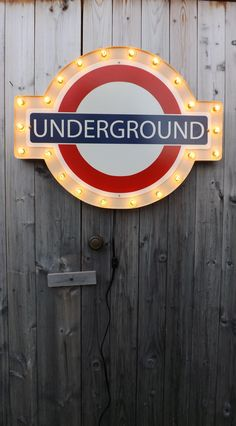 Marquee sign london underground light. Bring a bit of Britain home! This 24 wide sign features a border of clear 5w lights. The sign is made of
