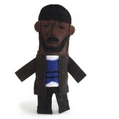 """Omar Little Felt Finger Puppet by abbeychristine on Etsy  - My favorite character from The Wire, immortalized. I could act out my favorite moments all day, """"How we different? I carry a gun..you carry a briefcase."""""""