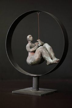 "Saatchi Art Artist Jacinthe Lamontagne-Lecomte; Sculpture, ""INDECISION"" #art"