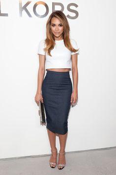 Naya at the Michael Kors Fall/Winter New York Fashion Week show.