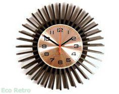 Vintage 1960's Atom Age Retro Sunburst Star Burst Wall Clock from Westclox
