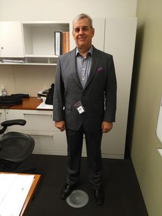 Guy A. Bourassa from Kinross Gold Corporation Toronto is going into the new year looking sharp in his grey bespoke suit from LGFG Paris line.