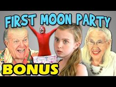 FineBros:Elders react to First Moon Party(Bonus)