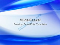 Blue Abstract PowerPoint Template 0910 #PowerPoint #Templates #Themes