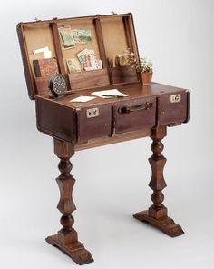 Make your own Vintage Suitcase Desk