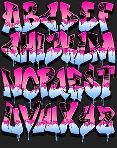 Image of Graffiti Font - Pink Power
