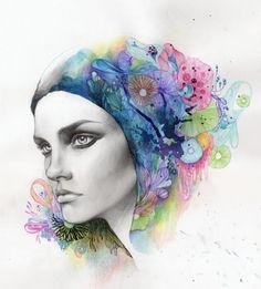 Digital Portrait Illustrations by So Hyeon Kim