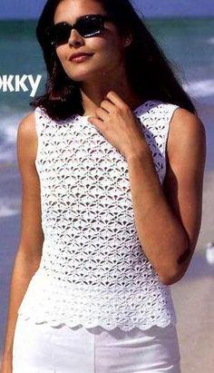 """Blusa branca de crochet (com esquema e receita em grego) [   """"Blusa branca de crochet (com esquema e receita em grego)."""" ] #<br/> # #Crochet #Womens #Tops,<br/> # #Crochet #Tops,<br/> # #White #Crochet #Top,<br/> # #Cute #Tops,<br/> # #Crochet #Sweaters,<br/> # #Crochet #Clothes,<br/> # #Womans #Tops,<br/> # #Summer #Tops,<br/> # #Crochet #Woman<br/>"""