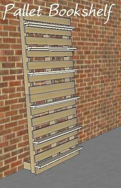 Great Pallet Bookshelf Idea For Horizontal Space Behind Bunk Beds To Hold  Supplies, Clocks,