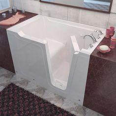 MediTub 3660RWS Walk-In 36 x 60 Right Drain White Soaking Walk-In Bathtub
