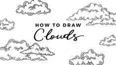 I got so many requests on my last bullet journal setup video to do a tutorial on drawing clouds, so I hope this helps y'all out with your doodles! April Bullet Journal, Bullet Journal Inspiration, Bullet Journals, Doodle Art Journals, Art Journal Pages, Journal Ideas, Art Journaling, Cloud Tutorial, Planner Doodles